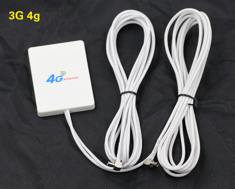 White 28dBi 3G /4G External wifi Antenna Signal Booster Amplifier Double Interface TS9 Connector