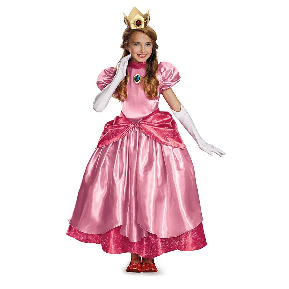 Disguise Nintendo Super Mario Brothers Princess Peach Prestige Girls Costume, Small/4-6x