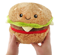 Custom Mini Squishy Hamburger Plush food stuffed toy 7""