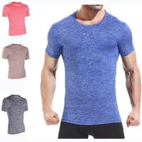 T- shirt Men Summer O-neck Short Sleeved Cotton Sports Tight Men T-shirt