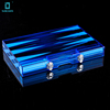 Suitable Medium Size Yenigun Backgammon Marblelized Set With Wooden Transparent Board