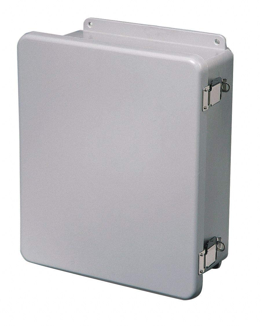 "8""H x 6""W x 4""D Non-Metallic Enclosure, Light Gray, Knockouts: No, Padlockable Latch Closure Method"