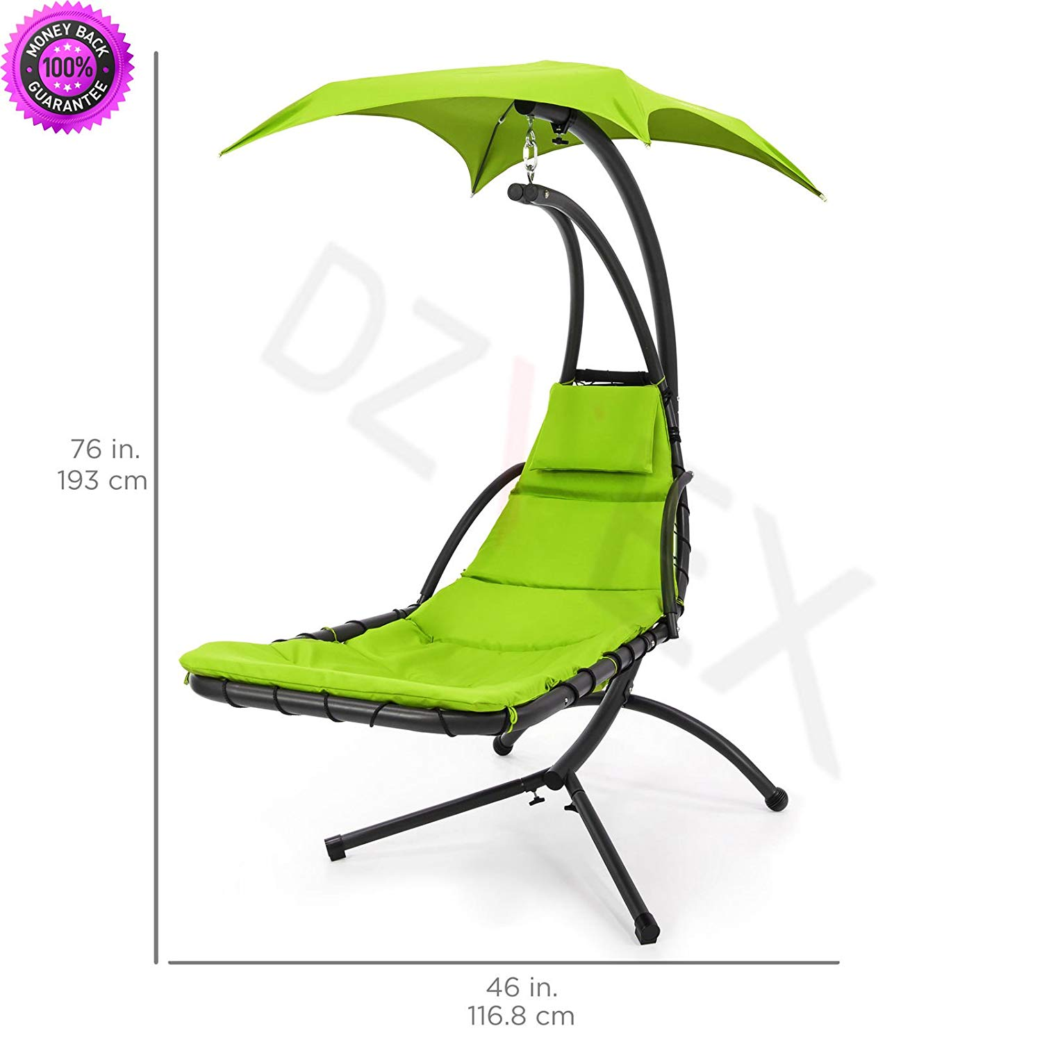 Buy Dzvex Hanging Chaise Lounger Chair Arc Stand Air Porch Swing