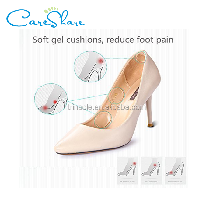 Soft shoe pads Heel Pads silicone Gel Heel Cushion high heel inserts for women