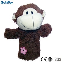 Cute custom plush monkey hand puppet toy