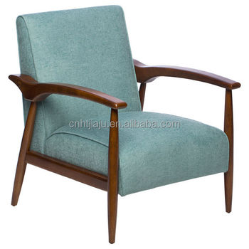 modern fabric with wood foot arm chair for living room/bedroom