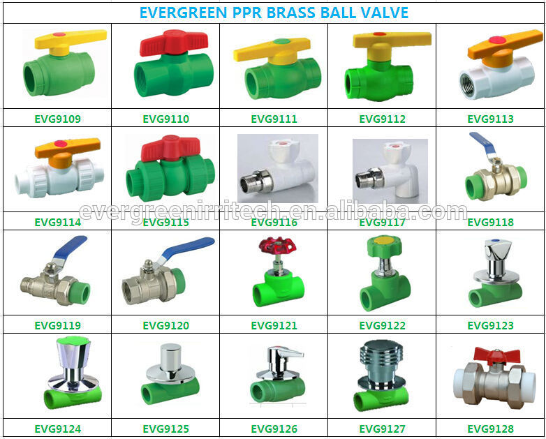 Wholesale brass ppr gate valve stop cock ball valves with