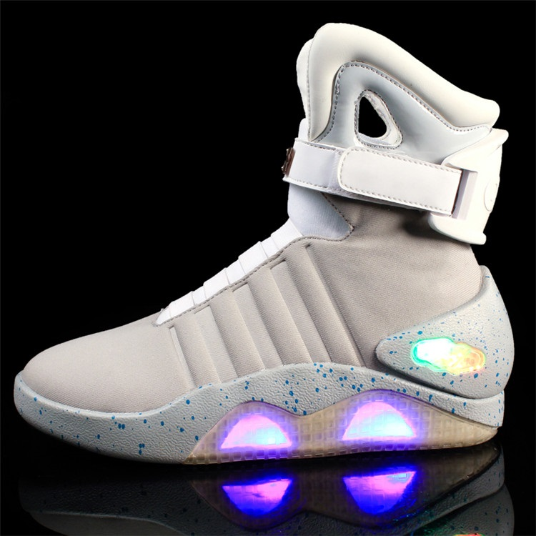 Rubber Shoes Sole White Shoes High Breathable Led Anti Comfortable Light Slip Durable Top BxEt7E