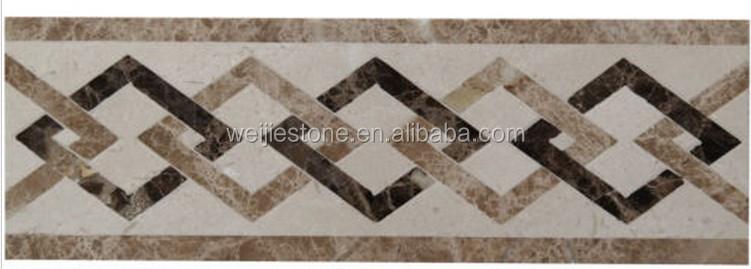 Marble Water Jet Floor Border Tile Design View Marble