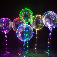 christmas party happy birthday helium flashing ballon led light up balloon bobo led balloon