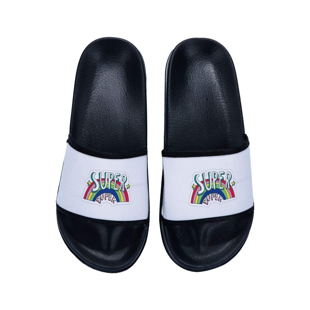 MingDe Sports Boys Girls Shower Shoes Bathroom Slippers Gym Slippers Soft Sole Open Toe House Slippers