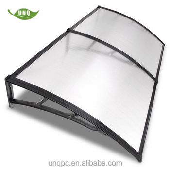 UNQ canopy polycarbonate roofing clear awnings for home