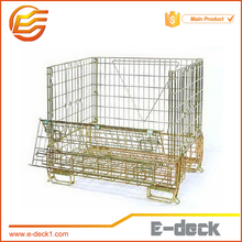 E-DECK storage steel wire mesh container YD-WL-F-16 stackable wire mesh container