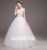 2016 New Luxurious Short Sleeves Lace Tulle Big Train Wedding Dress