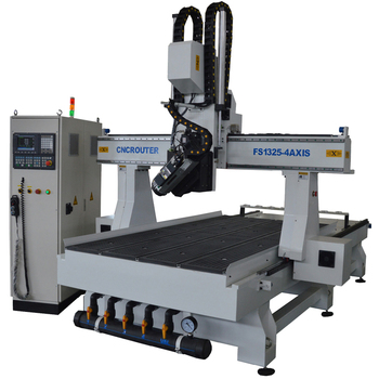 High precision 4 axis cnc engraving machine for wood , 3d polystyrene cnc cutting machine