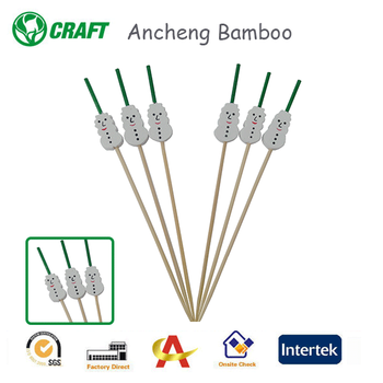 disposable natural bamboo party pick cocktail stick with nice looking
