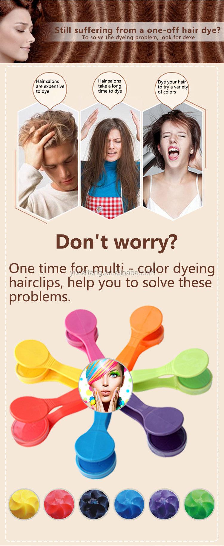 Güzellik kozmetik hazır saç rengi tebeşir pastel tutucu