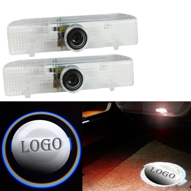 CNAutoLicht 4X Cree LED Door Step Light Laser Shadow Logo Projector Lamp For Nissan Armada Maxima 04-17 Quest 04-16 Titan 03-16 Altima 08-13 Altima 02-15 Pathfinder Murano 13-17 Courtesy Light