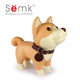 2016 SEMK novelty dog plastic piggy bank, pvc money box