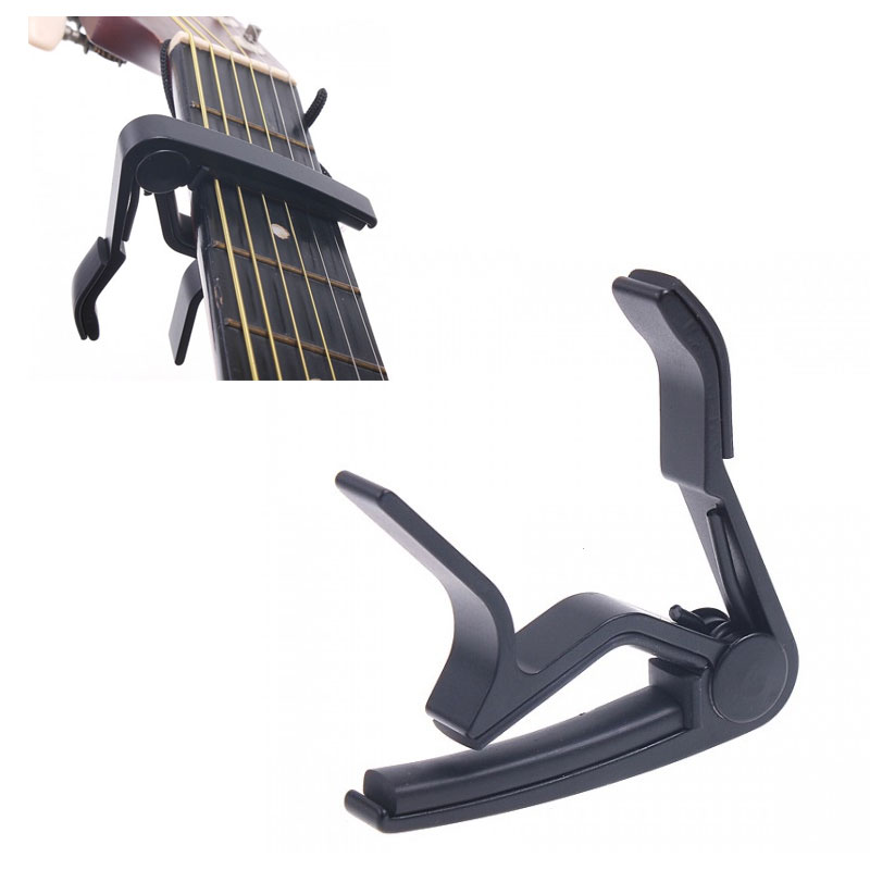 sliver black quick change clamp key capo for electric guitar guitarra parts. Black Bedroom Furniture Sets. Home Design Ideas