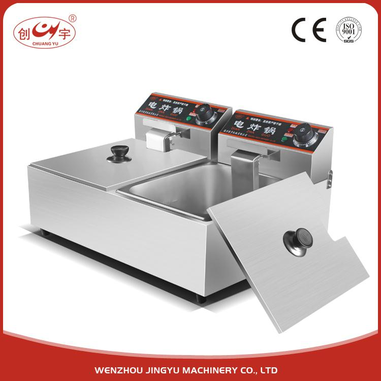 Chuangyu 2017 New Products 5 Kw Yb Deep Commercial Electric Oilless Fryer / Greaseless Fryer
