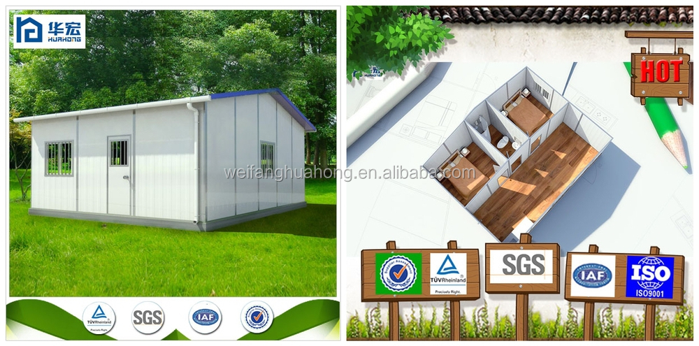 Steel Frame Rockwool/EPS/Glass Wool Panel Mobile/Modular/Prefab/Prefabricated House