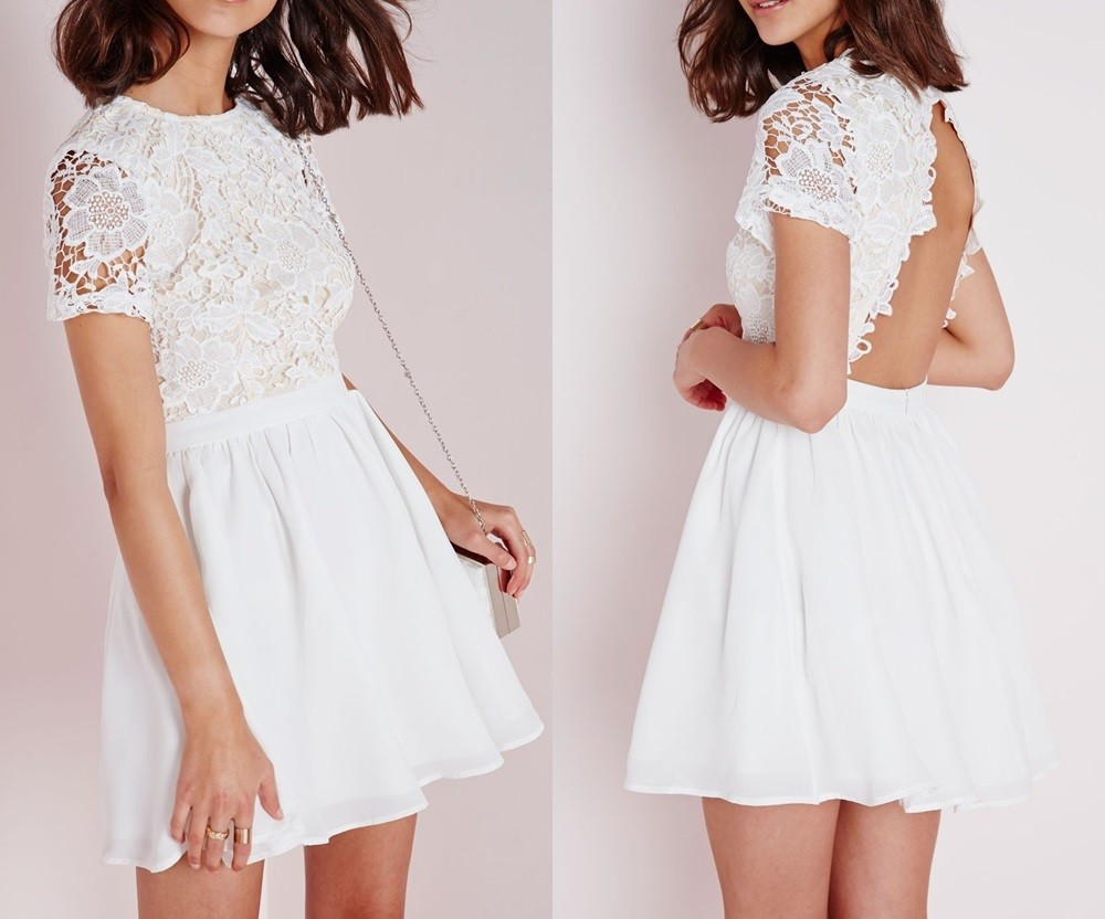 White Lace Skater Dresses, White Lace Skater Dresses Suppliers and ...