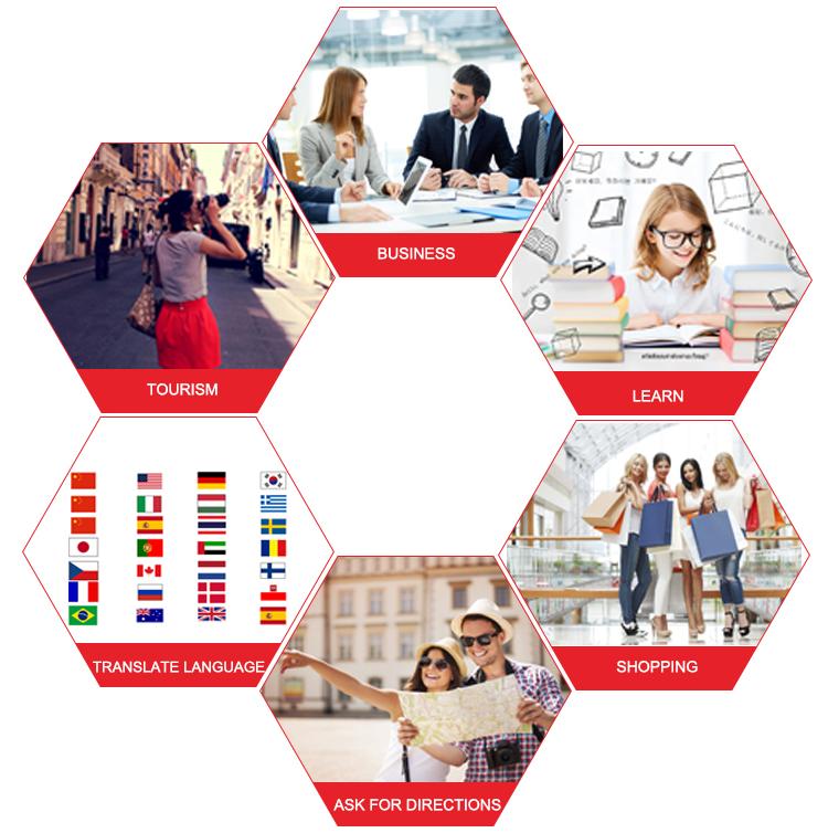 4 inç 300 PPI elektronik sözlük konferans İngilizce sesli çevirmen 117 dil