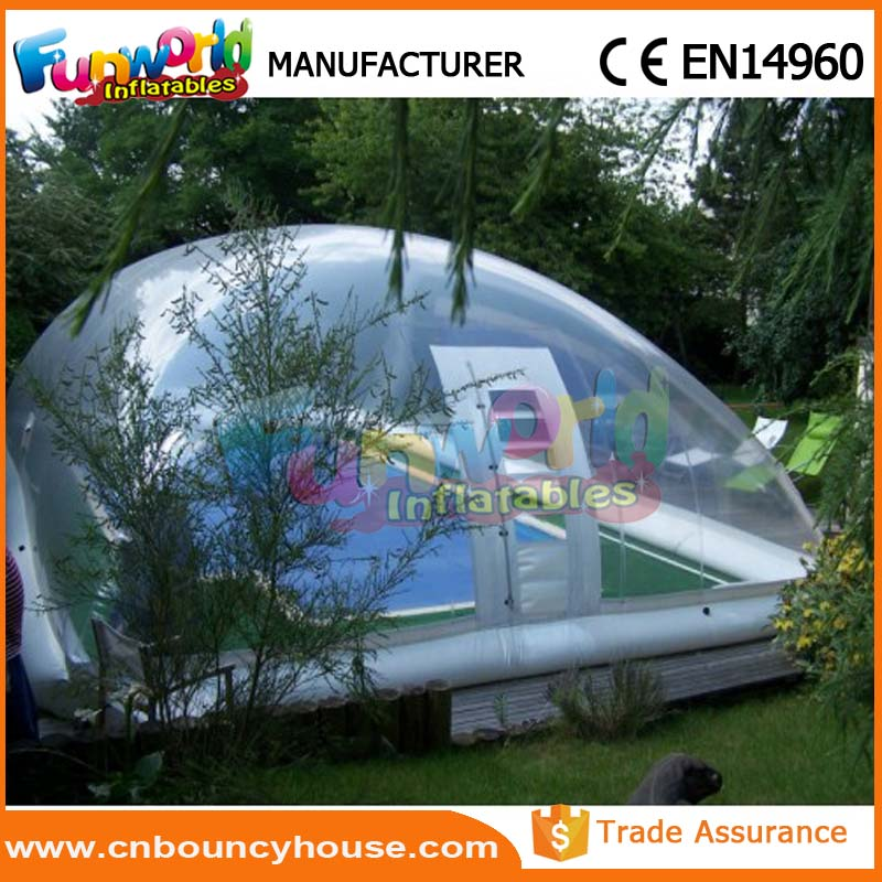 Customized Inflatable swimming pool cover tent inflatable pool dome