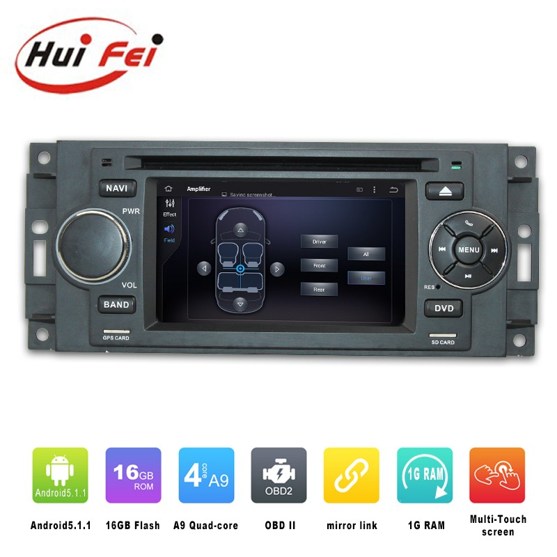Huifei 2016 Newest In-Dash Multimedia Navigation Pure Android 5.1.1 For Chrysler 300c car multimedia player