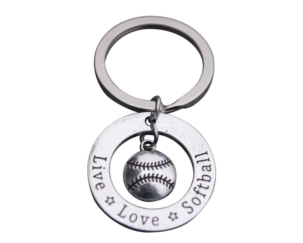 Softball Keychain, Softball Gift, Girls Softball Jewelry, Perfect Softball Player, Team and