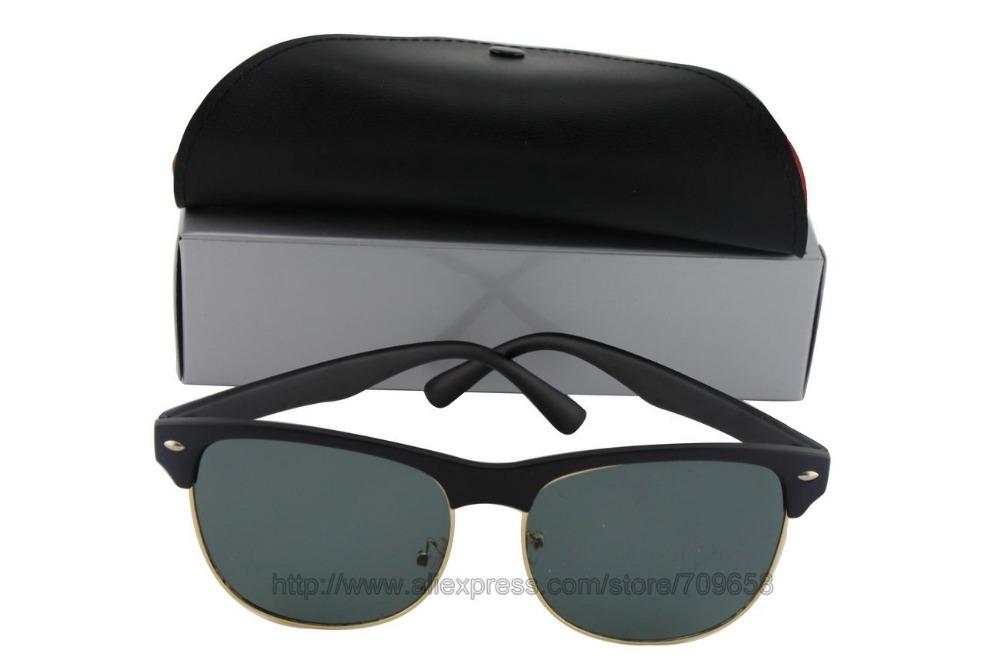 08c2216ab35 Get Quotations · 1 pair Men Women Brand designer sunglasses 4175 Matte  black frame 58mm glass lenses Outdoor sports