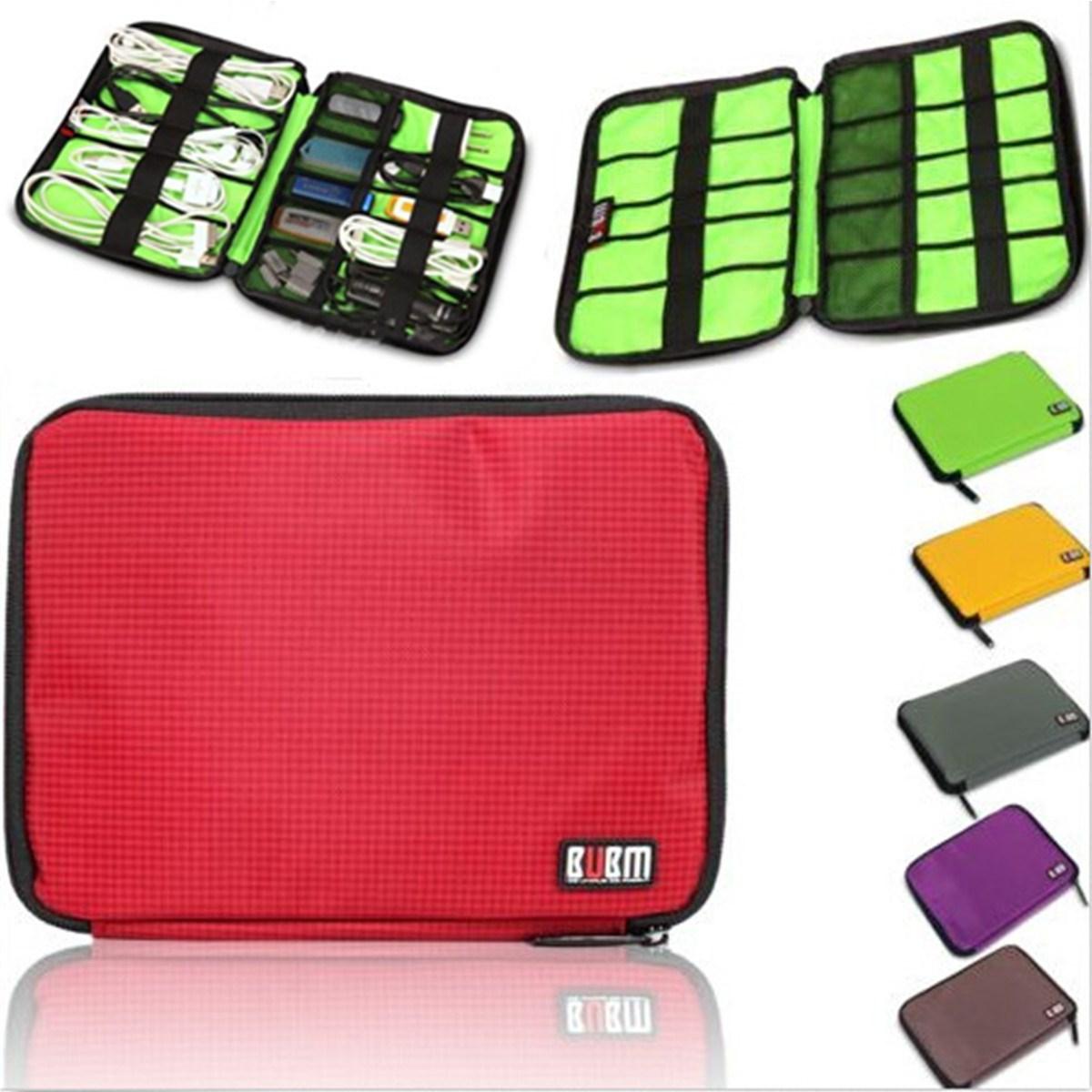 Modern Design BUBM 6 Colors Cable Organizer Bag Case Purse Can Put USB Flash Drive Hard