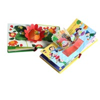 High quality CMYK children 3d picture english pop-up book