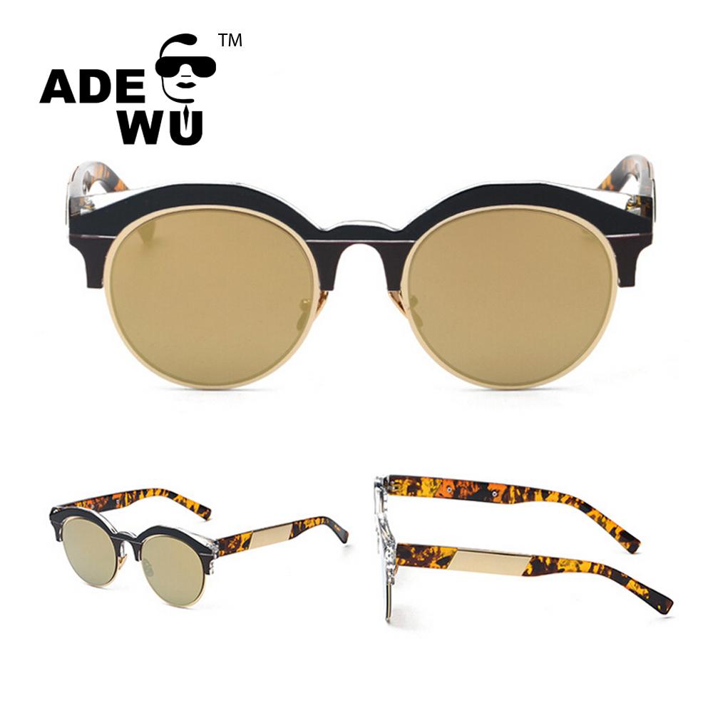 Ade Wu Fashion Wanita Mantra Warna Bingkai Kacamata Bulat Korea Transparant Terbaru 2017 Cusotm Logo Anda