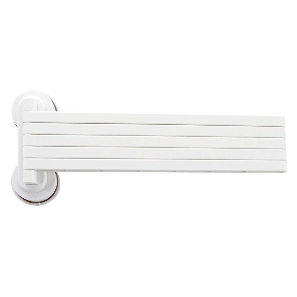 EQEQ Free Perforated Teats Wipers Rack Towel Rack Converter Rack Toilet Bath Rooms Kitchen Racks (White Color)