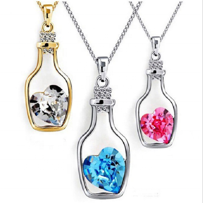 보건부 (Health quantum energy 병하고자하는 병 heart stainless steel 펜 던 트 necklace