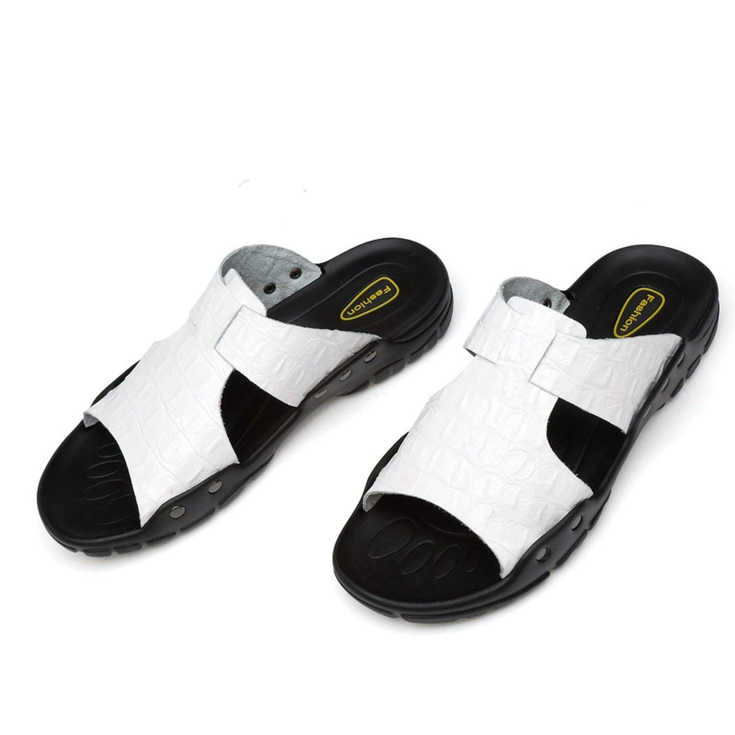0370e18eba56 Get Quotations · Mens Sports Sandals Leather Fisherman Sandals Closed Toe  Summer Outdoor Beach Shoes Water Slippers