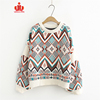Custom Free Pattern Knitted Pullover 100% Organic Cotton Wool Cashmere Mujer Woman Sweater