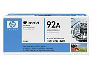Hewlett Packard (HP) 92A OEM Laserjet: Black HPC4092A