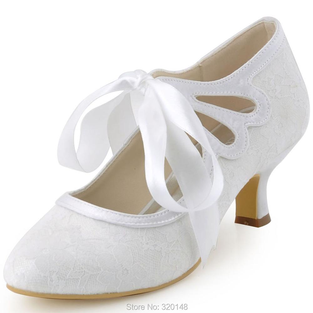 e5de0f94349d9e Get Quotations · Free Shipping Elegantpark 2015 New HC1521 White Ivory  Close Toe Mary-janes Pumps Women Ribbon