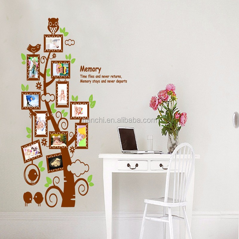 Creative tree photo frame for memory wall sticker children rooms home decoration removable waterproof decal