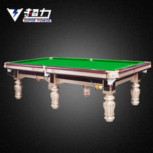 Solid wood black slates hand carved luxury billiard pool table
