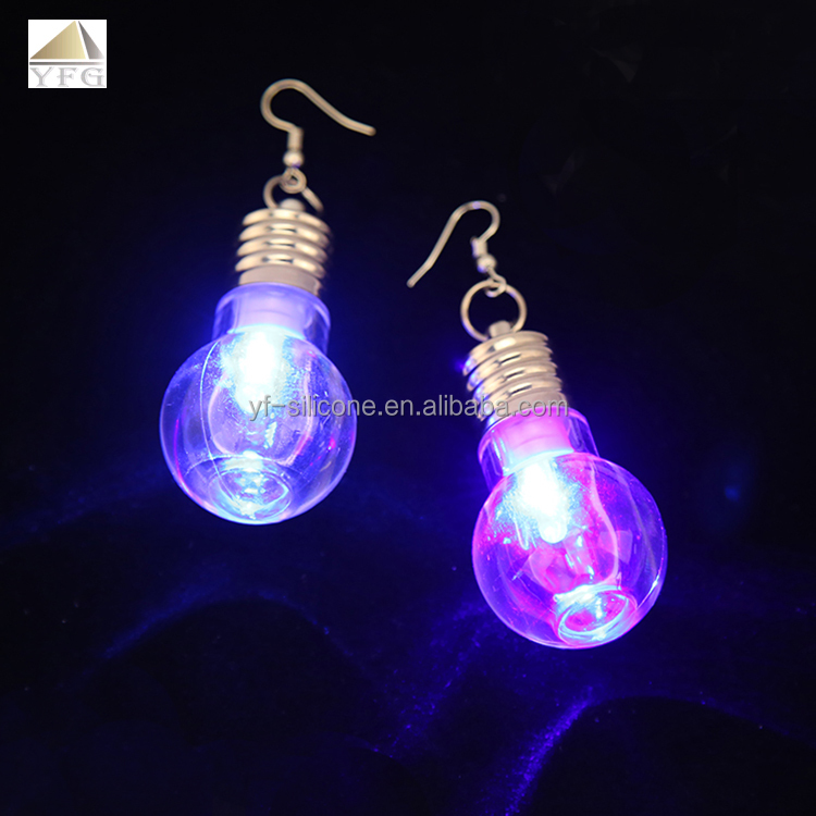 Party Products Ladies and Gentleman Light Up christmas Flashing earrings LED mini light earings