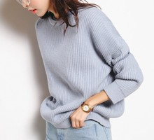 zm21216a New winter lady's clothing han edition sweater pure color render sweater coats