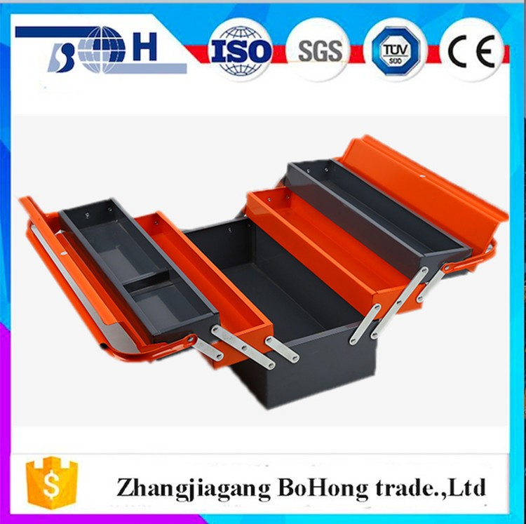 Professional manufacturer for multi folding iron tool box