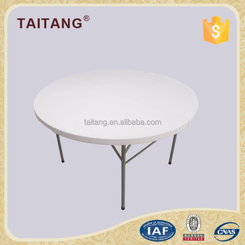 Perfect White Plastic Folding Tray 1.8m Round Bench Table