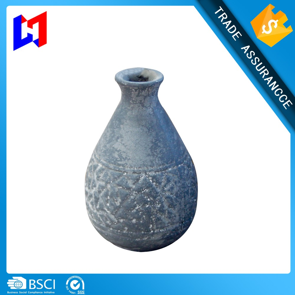 Hand Carved High Quality Promotional Decoration Antique Wooden Vases