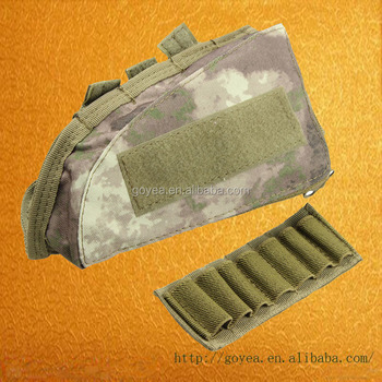 Tactical Buttstock Shotgun Rifle Stock Ammo Portable Pouch Shell Cartridge  Holder Pouch Hunting Holder - Buy Ammo Pouch,Hunting Holder,Shotgun
