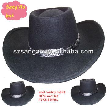 Promotion Black felt rhythm pocket hat men for wholesale as wool making 16598a2025e